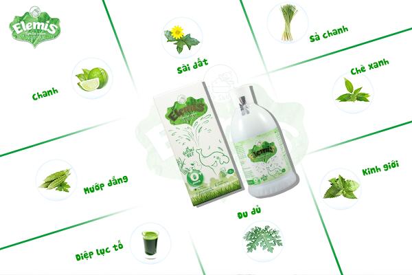 Thành phần của elemis sữa tắm hoàn toàn từ các thảo dược tự nhiên