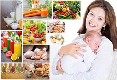 Mẹ ăn uống khoa học cũng là một giải pháp giúp trẻ không còn khóc dạ đề