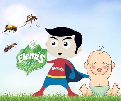 Elemis – vệ sĩ bảo vệ bé yêu khỏi côn trùng gây hại