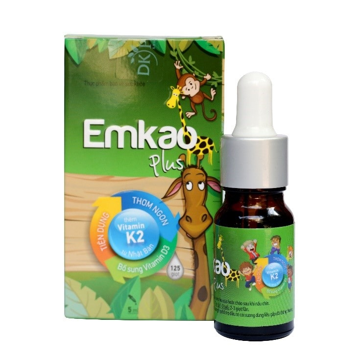 sản phẩm Emkao bổ sung vitamin D cho trẻ