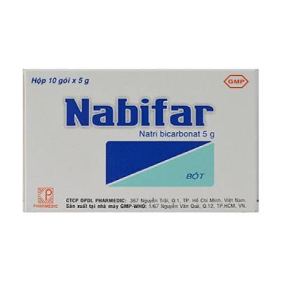 Dùng dung dịch muối natri bicarbonat