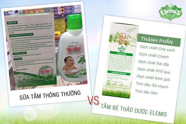 """Một số loại sữa tắm gắn mác """"thảo dược"""" trên thị trường có thành phần hóa học"""