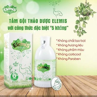 sữa tắm elemis thảo dược không chất bảo quản