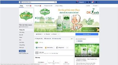 Fanpage chính thức của sản phẩm tắm bé thảo dược Elemis