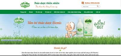 website sữa tắm thảo dược Elemis